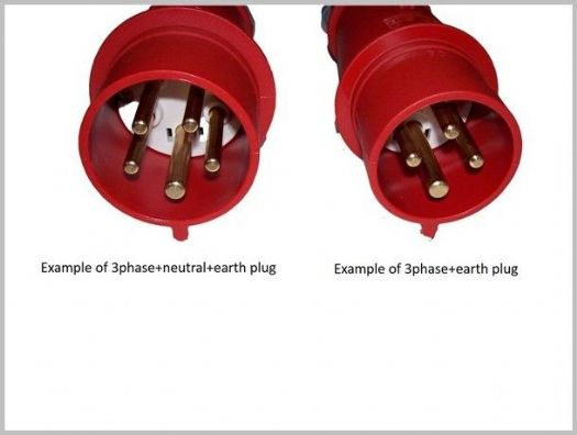 N+E 3 Phase commando plug 32A 400V  5 Pin Red Trailing Plug 3pin